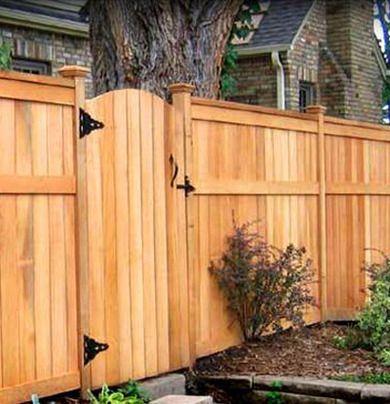 cedar fence gate