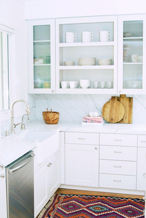 modern white kitchen breadboard