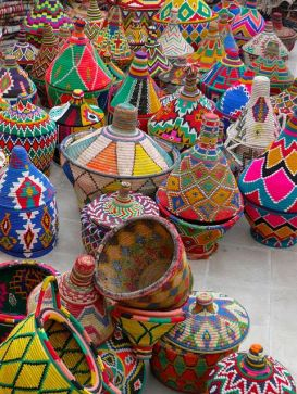 African Baskets at the Market
