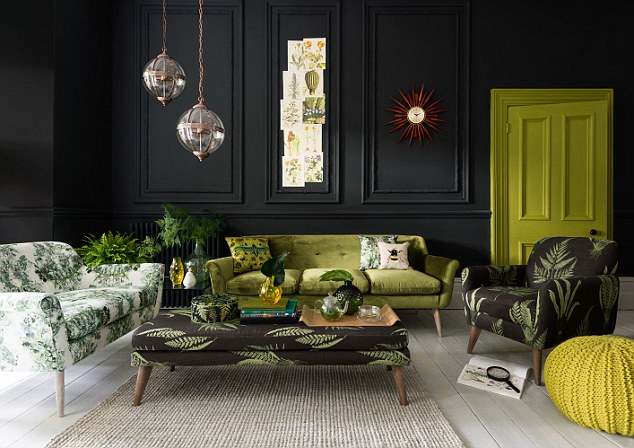 M and S Home Leafy Botanical Upholstery