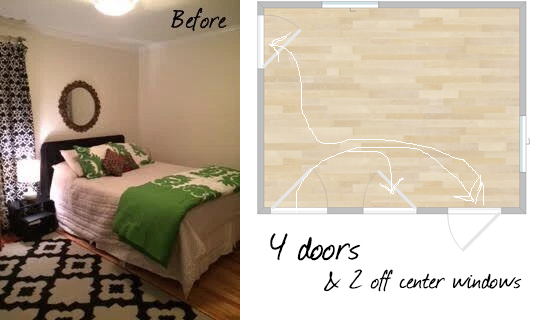 dogwood bedroom before plus floorplan