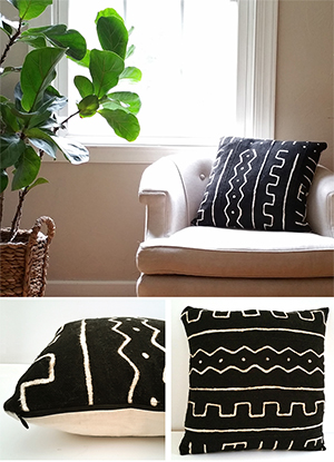 African Mudcloth Pillows by the estate of things for shop teot