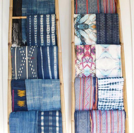vintage textiles african hmong mudcoth indigo