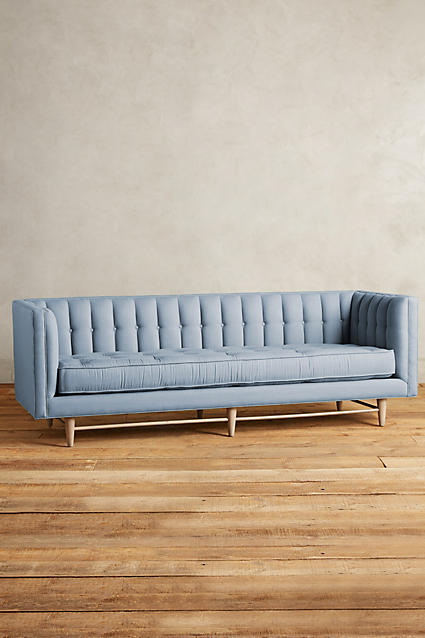 Anthropologie Maryn Sofa in Pool Blue