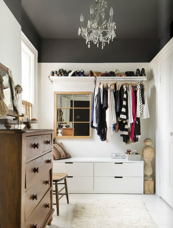 black-ceiling-closet