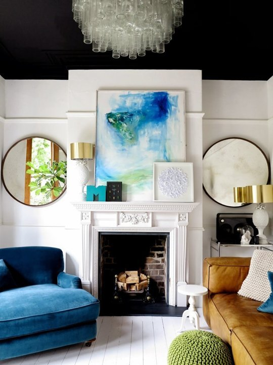 black-painted-ceiling-to-make-a-tall-ceiling-cozy-via-apartment-therapy