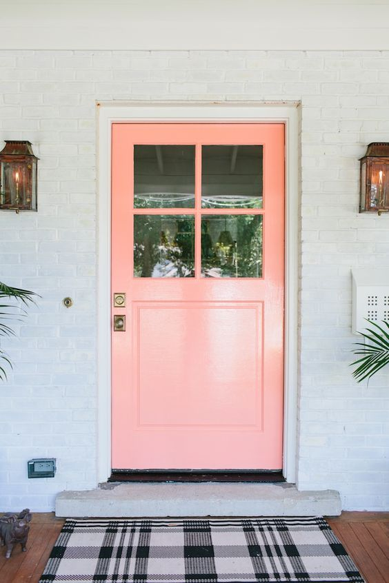 Hi homeowners on Ashe if you can here me pink could be the thing for you. & Pink Front Doors | The Estate of Things pezcame.com