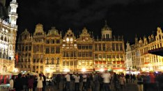 Night time in the Grand Place