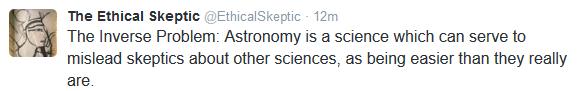 Astronomy skeptics fail to grasp science