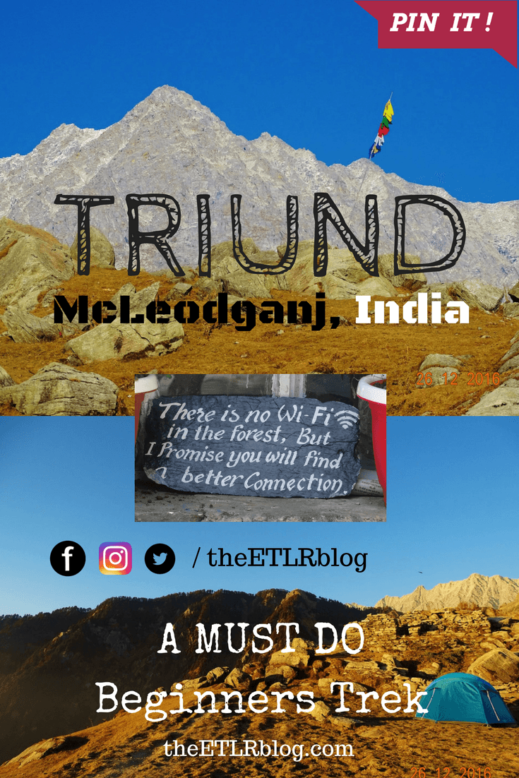 Triund trek in the himalayas