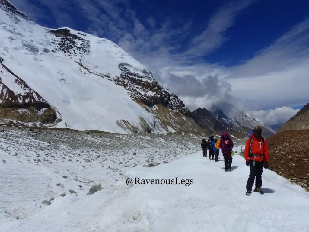 Kalindi Kahl trek in Himalayas