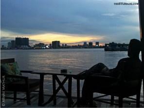 Sunset overlooking the Phnom Penh Skyline