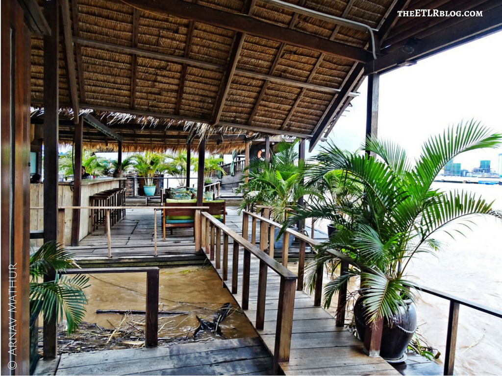 Our Private Bar and Cafe, just a bridge away ! Mekong Cambodia MAADS