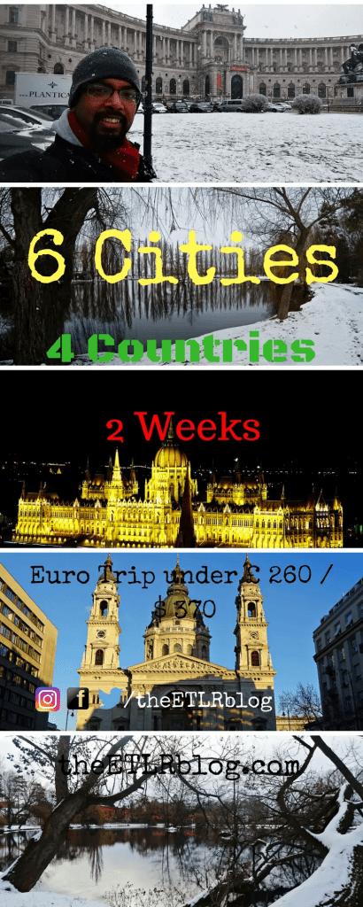 Euro Trip 2018 under £ 260 / $ 370