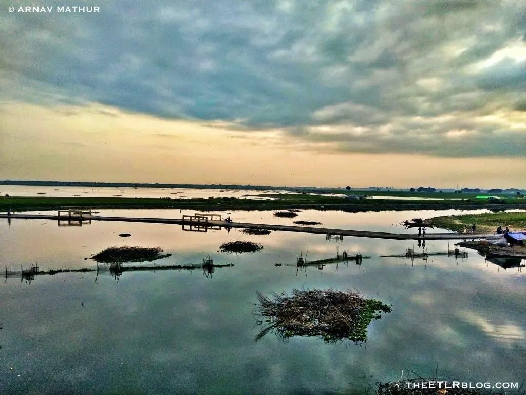 View from U Bein Bridge Myanmar Trip theETLRblog