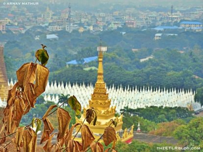 Sandamuni Pagoda as viewed from the top of Mandalay Hill