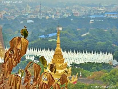 Sandamuni Pagoda as viewed from the top of Mandalay Hill