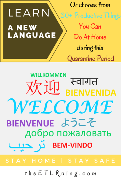 Learn a new language +30 Awesome Things at home