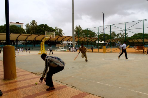 I have spent most of my outreach time here getting to know a group of guys who go to the same cricket ground every day to play during their work break. It has been a lot of fun sharing Jesus with those guys. They have also been teaching us how cricket works and let us play every once in a while.