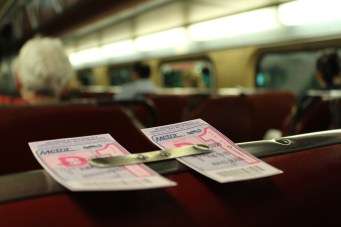 Our Metra tickets