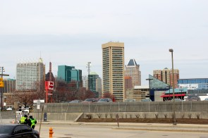 The Baltimore skyline.