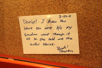 At the end, kids wrote notes to a boy who lived through the Holocaust. This one wrecked me...