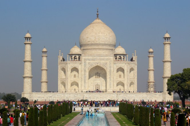 No...I did not Google search and paste in some random picture. I [Emily] took that picture! Let's just say the Taj Mahal did not disappoint!