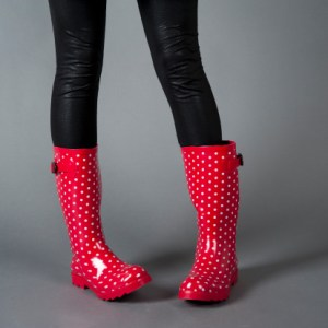 Rubber boots are great for puddles, not for climbing ladders to hang Christmas lights around the house.