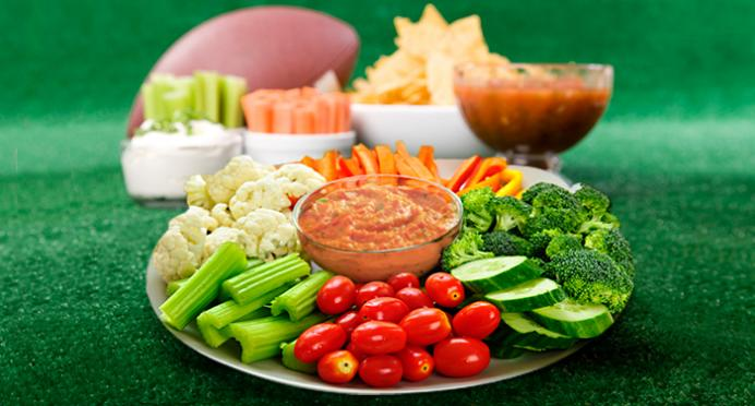 Keep your New Years Resolution to eat well with these tips for Super Bowl appetizers