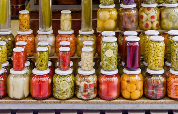 Vegetables in jars and cans from your pantry shelf add nutritional value to salad when fresh produce is not available