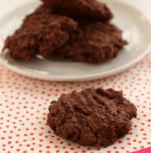 Chocolate Oatmeal Cookies for Valentine's Day