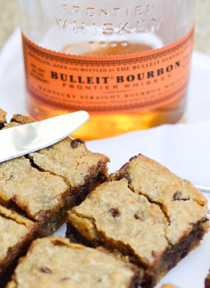 Brown Butter Bourbon Chocolate Blondies   www.theeverykitchen.com