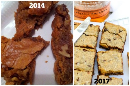 comparing Bourbon Blondies | 2014 vs 2017 | www.theeverykitchen.com