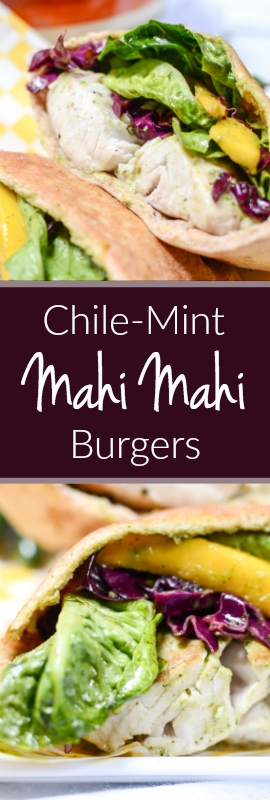 Chile-Mint Mahi Mahi Burgers are your favorite burger this summer! This healthy recipe is low in calories, high in protein, and killing it with flavor. | theeverykitchen.com