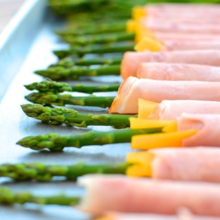 Ham & Cheese Asparagus Spears