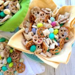 White Chocolate Peanut Butter Muddy Buddy Snack Mix