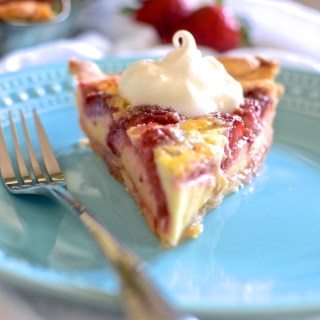 Strawberry Lemon Buttermilk Pie