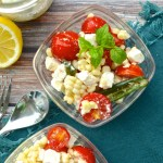 Summer Corn & Tomato Salad with Jalapeño-Lemon Feta