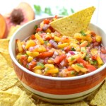 Fresh Mango Peach Salsa
