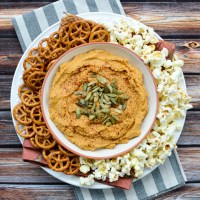 5-Minute Smoky Pumpkin Hummus