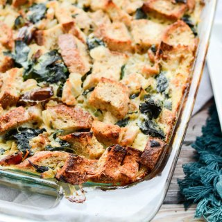 Turkey Sausage and Kale Bread Pudding | www.theeverykitchen.com