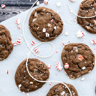 A rich and fudgy cookie with crunchy peppermint pieces will make your dessert table beautiful and your belly happy | www.theeverykitchen.com