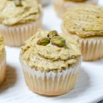 Irish Cream Cupcakes with Pistachio Swiss Meringue