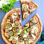 Fig and Mushroom Barbecue Pizza | www.theeverykitchen.com