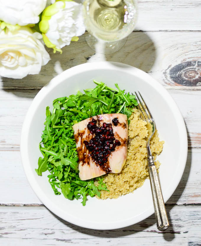 Simplify Date Night with Pomegranate Balsamic Mahi Mahi | www.theeverykitchen.com