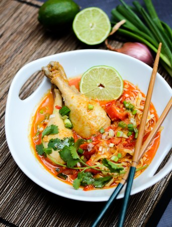 Easy Thai Coconut Curry Noodles (Khao Soi) | www.theeverykitchen.com