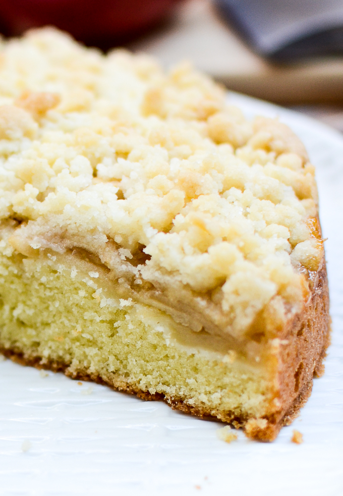 Irish Apple Crumb Cake is a back-to-basics recipe for a heat and eat sweet breakfast or a light dessert. | theeverykitchen.com
