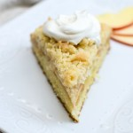 Irish Apple Crumb Cake with Honey Whipped Cream