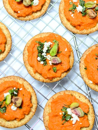 Roasted Carrot Spread with Toasted Pistachios and Tarragon showcases the flavor and beauty of simple, fresh, and minimal ingredients. | theeverykitchen.com
