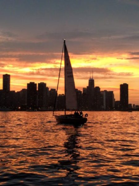 Sunset sail in Chicago | theeverykitchen.com